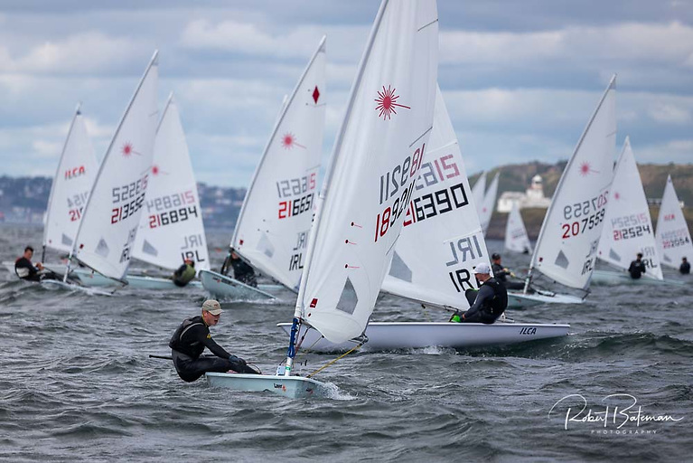 Royal Cork's Jonathan O'Shaughnessy is the new leader in the Laser Radial National Championships at Royal Cork Yacht Club