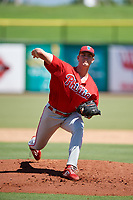 Philadelphia Phillies pitcher James McArthur (26) delivers a pitch during a Florida Instructional League game against the Toronto Blue Jays on September 24, 2018 at Spectrum Field in Clearwater, Florida.  (Mike Janes/Four Seam Images)