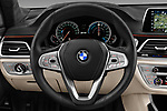 Car pictures of steering wheel view of a 2018 BMW 7-Series-Plug-In-Hybrid 740Le-iPerformance 4 Door Sedan Steering Wheel