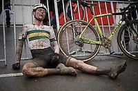 Garry Millburn (AUS) post-race <br /> <br /> Men's Elite Race<br /> <br /> UCI 2016 cyclocross World Championships,<br /> Zolder, Belgium