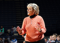 Nov. 14, 2010; Charlottesville, VA, USA;  Virginia Cavaliers head coach Debbie Ryan talks with her players during the game against Mount St. Mary's at the John Paul Jones Arena. Virginia won 81-58.  Mandatory Credit: Andrew Shurtleff