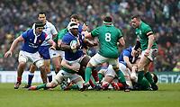 Sunday10th March 2019 | Ireland vs France<br /> <br /> Demba Bamba is tackled by Jack Conan during the Guinness 6 Nations clash between Ireland and France at the Aviva Stadium, Lansdowne Road, Dublin, Ireland. Photo by John Dickson / DICKSONDIGITAL
