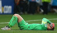 Netherlands goalkeeper Jasper Cillessen shows a look of dejection during the penalty shootout
