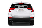 Straight rear view of a 2018 GMC Terrain SLE FWD 5 Door SUV stock images