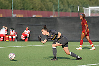 4th September 2021; Agostino di Bartolomei Stadium, Rome, Italy; Serie A womens championship football, AS Roma versus Napoli ; Goalkeeper Camelia Ceaser of Roma puts the ball back in play