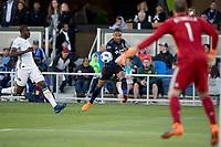 Santa Clara, CA - Saturday, May 5, 2018: The San Jose Earthquakes lost to the Portland Timbers 1-0 at the Avaya Stadium.