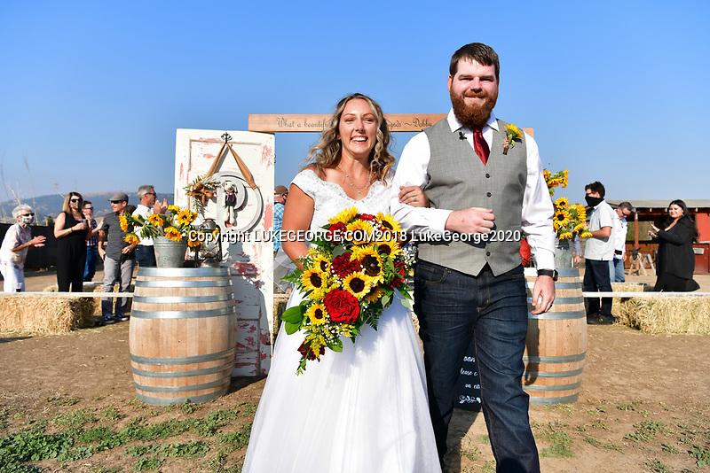 Haylee and Brandon's families unite on their Gilroy family farm.