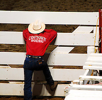 Cowboys at the rodeo, Cowtown, New Jersey