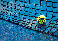 Netherlands, September 6,  2020, Amsterdam, Padel Dam, NK Padel, National  Padel Championships, Net and ball<br /> Photo: Henk Koster/tennisimages.com