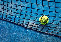 Netherlands, September 6,  2020, Amsterdam, Padel Dam, NK Padel, National  Padel Championships, Net and ball<br /> Photo: Henk Koster/tennisimages.com