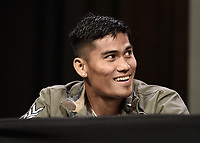 LAS VEGAS, NV - AUG 19:  Mark Magsayo at the undercard press conference at the MGM Grand Garden Arena on August 19, 2021 for the upcoming Fox Sports PBC pay-per-view fight in Las Vegas, Nevada. Pacquaio vs Ugas pay-per-view will be on August 21 at T-Mobile Arena in Las Vegas. (Photo by Scott Kirkland/Fox Sports/PictureGroup)