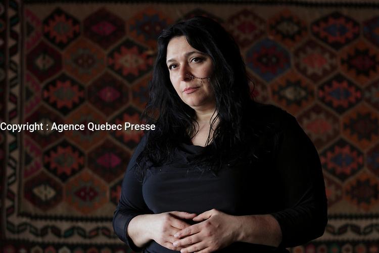 la chanteuse armenienne Lousnak en visite a Montreal, Canada, avril 2015<br /> <br /> PHOTO :  Agence Quebec Presse - YANN TOUTAIN