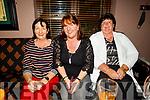Mary Reidy (Ballymac), Mary Lynch (Tralee) and Doreen Brosnan (Tralee) enjoying the Johnny McEvoy concert in O'Riadas on Friday night.