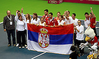 Serbian Team Fed Cup Serbia vs Canada, World group II, first round, Novi Sad, Serbia, SPENS Sports Center, Sunday, February 06, 2011. (photo: Srdjan Stevanovic)(credit image & photo: Pedja Milosavljevic / +381 64 1260 959 / thepedja@gmail.com )