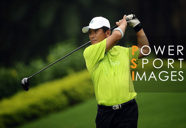 TAIPEI, TAIWAN - NOVEMBER 18:  Chang Hung Ta of Taiwan tees off on the 16th hole during day one of the Fubon Senior Open at Miramar Golf & Country Club on November 18, 2011 in Taipei, Taiwan. Photo by Victor Fraile / The Power of Sport Images
