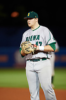 Siena Saints first baseman Joe Drpich (47) during a game against the Florida Gators on February 16, 2018 at Alfred A. McKethan Stadium in Gainesville, Florida.  Florida defeated Siena 7-1.  (Mike Janes/Four Seam Images)