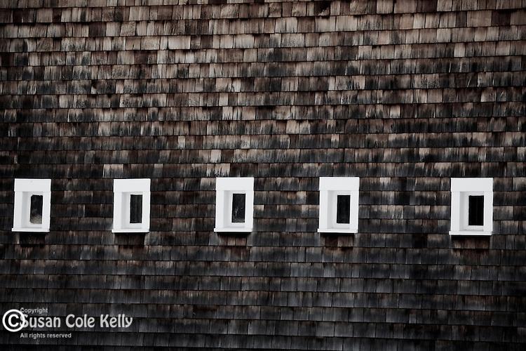 A shingled barn in Tamworth, NH, USA