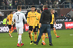 01.12.2018,  GER; 2. FBL, FC St. Pauli vs SG Dynamo Dresden ,DFL REGULATIONS PROHIBIT ANY USE OF PHOTOGRAPHS AS IMAGE SEQUENCES AND/OR QUASI-VIDEO, im Bild die Dresdner Mannschaft enttaeuscht nach dem Spiel Foto © nordphoto / Witke