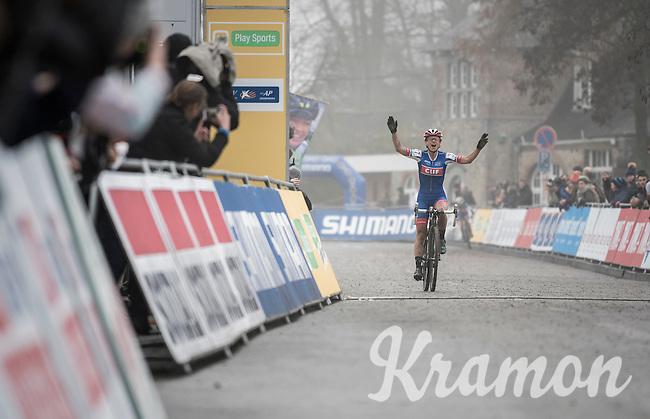 Katerina Nash (CZE/Luna) wins the UCI Cyclocross World Cup Namur/Belgium 2016 women's race