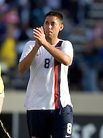 Clint Dempsey applauds the fans.The USA defeated China, 4-1, in an international friendly at Spartan Stadium, San Jose, CA on June 2, 2007.