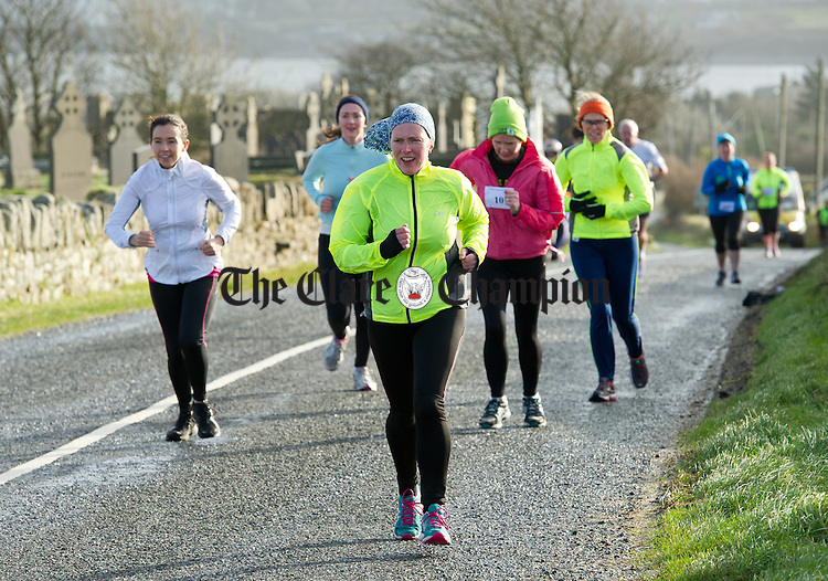 during the West Clare Mini Marathon from Carrigaholt to Kilkee. Photograph by John Kelly.