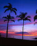 Sunset, Mauna Kea Beach, Kohala Coast, Big Island, Hawaii