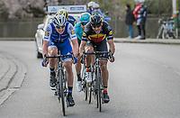 Yves Lampaert (BEL/QuickStep Floors) leading the race leaders down the  Tiegemberg<br /> <br /> 72nd Dwars Door Vlaanderen (1.UWT)<br /> 1day race: Roeselare › Waregem BEL (203.4km)