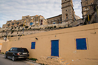 Malta, 28 December 2014<br /> <br /> Along the West shore of the old city of Valetta. Carmelite dome and the Anglican cathedral.<br /> <br /> Photo Kees Metselaar