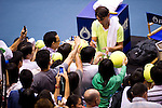 BANGKOK, THAILAND - OCTOBER 02:  Rafael Nadal of Spain signs autographs after loosing against compatriot Guillermo Garcia-Lopez during the Day 8 of the PTT Thailand Open at Impact Arena on October 2, 2010 in Bangkok, Thailand. Photo by Victor Fraile / The Power of Sport Images