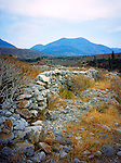 Stone Wall and Mountains, Trachila, Outer Mani, Greece