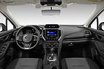 Stock photo of straight dashboard view of 2021 Subaru Impreza - 5 Door Hatchback Dashboard
