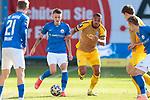 20.02.2021, xtgx, Fussball 3. Liga, FC Hansa Rostock - SV Waldhof Mannheim, v.l. Nico Neidhart (Hansa Rostock, 7), Anton Donkor (Mannheim, 19) Zweikampf, Duell, Kampf, tackle <br /> <br /> (DFL/DFB REGULATIONS PROHIBIT ANY USE OF PHOTOGRAPHS as IMAGE SEQUENCES and/or QUASI-VIDEO)<br /> <br /> Foto © PIX-Sportfotos *** Foto ist honorarpflichtig! *** Auf Anfrage in hoeherer Qualitaet/Aufloesung. Belegexemplar erbeten. Veroeffentlichung ausschliesslich fuer journalistisch-publizistische Zwecke. For editorial use only.