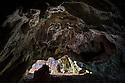 Entrance of Limestone cave, Plitvice Lakes National Park, Croatia. November.