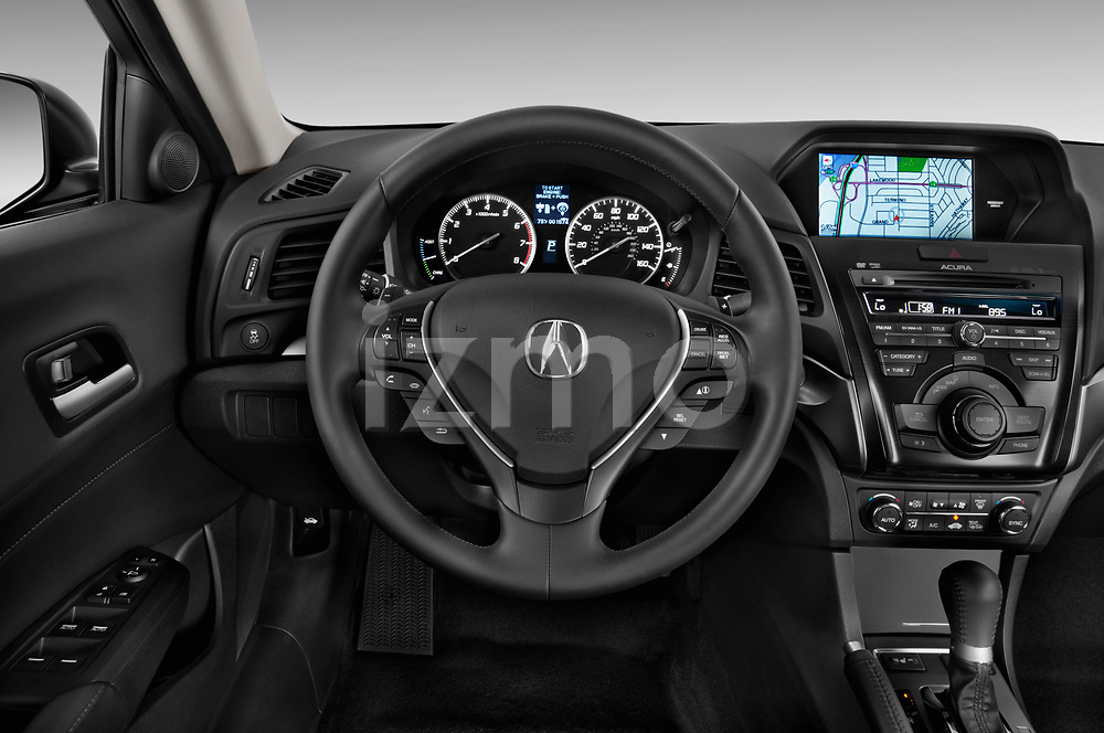 Car pictures of steering wheel view of a 2013-2014 Acura ilx hybrid 5 Door Sedan