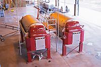 Two big grape wine presses Bodega Del Fin Del Mundo - The End of the World - Neuquen, Patagonia, Argentina, South America