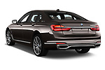 Car pictures of rear three quarter view of a 2018 BMW 7 Series Plug-In Hybrid 740Le iPerformance 4 Door Sedan angular rear