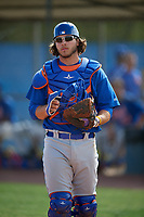 New York Mets catcher Kevin Hall during a Minor League Spring Training intrasquad game on March 29, 2018 at the First Data Field Complex in St. Lucie, Florida.  (Mike Janes/Four Seam Images)