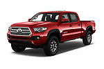 2016 Toyota Tacoma TRD Off Road Double 4 Door Pick Up angular front stock photos of front three quarter view
