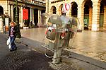 Public Telephone at strange angle Verona Italy Europe