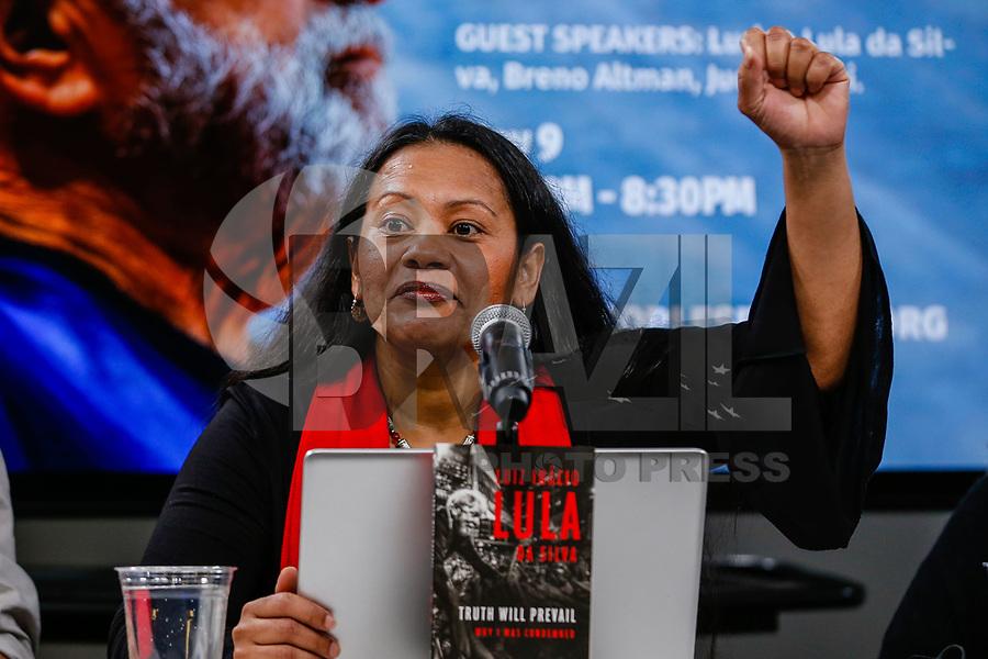 NOVA YORK, EUA, 09.05.2019 - POLITICA-EUA - Lucy Quesada durante evento de lancamento do livro sobre Lula em Nova York nesta quinta-feira, 09. (Foto:Vanessa Carvalho/Brazil Photo Press)