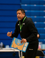 Creon Raftopoulos head coach of Surrey Scorchers during the BBL Championship match between Surrey Scorchers and Newcastle Eagles at Surrey Sports Park, Guildford, England on 20 March 2021. Photo by Liam McAvoy.