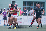 Hogan Lovells Asia Pacific Dragons vs Kir Club Pyrenees during their Cup Quarter-final as part of the GFI HKFC Rugby Tens 2017 on 06 April 2017 in Hong Kong Football Club, Hong Kong, China. Photo by Marcio Rodrigo Machado / Power Sport Images