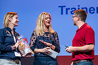 Nieuwegein,  Netherlands, 9 November 2018, Coaches congress KNLTB, Stefan Underwood and Kristy Boogert<br /> Photo: Tennisimages.com/Henk Koster