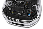 Car Stock 2015 Volkswagen Passat Comfort 5 Door Wagon Engine high angle detail view
