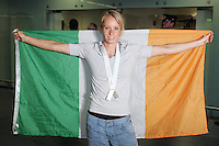 Derval O'Rourke arrives home