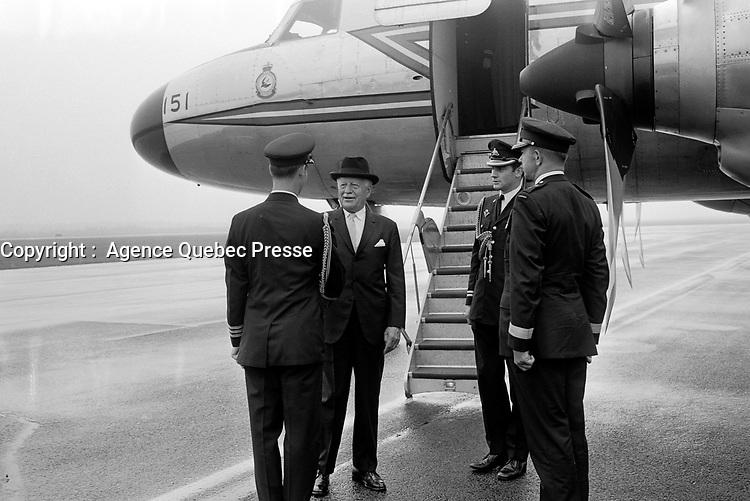Roland Michener,<br /> le 3 septembre 1971<br /> <br /> Photographe : Jacques Thibault<br /> - Agence Quebec Presse
