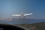 The tow plane seen from a glider plane ride over Lake Tahoe with Gliders Minden in Minden, NV