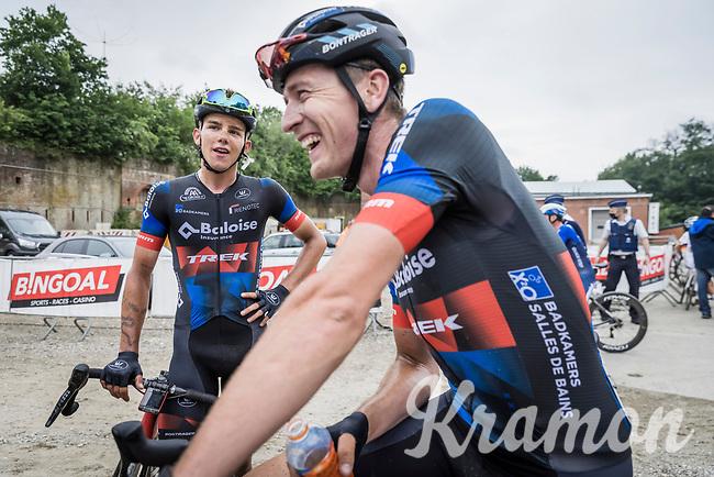 Toon Aerts (BEL/Baloise Trek Lions) and Thibau Nys (BEL/Baloise Trek Lions) post race<br /> <br /> 17th Dwars Door Het Hageland 2021<br /> One Day Race: Aarschot – Diest 18Okm (UCI 1.Pro)<br /> Bingoal Cycling Cup 2021<br /> <br /> ©kramon