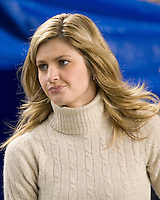 16 November 2006:  ESPN sideline reporter Erin Andrews..The West Virginia Mountaineers defeated the Pitt Panthers 45-27 on November 16, 2006 at Heinz Field, Pittsburgh, Pennsylvania.