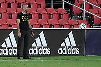 WASHINGTON, DC - AUGUST 25: Ben Olsen Head Coach of D.C. United during a game between New England Revolution and D.C. United at Audi Field on August 25, 2020 in Washington, DC.